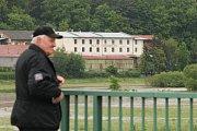 Rozvodněná Radbuza v Dobřanech.