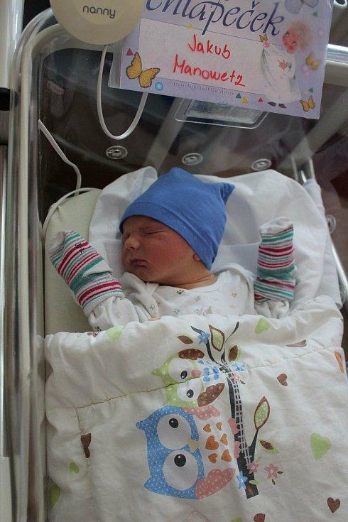 Jakub Manowetz z Holýšova se narodil v plzeňské FN 24. května ve 13:52 (3490 g, 51 cm). Rodiče Ivana a Ota dopředu věděli, že tříletý Otík bude mít brášku.