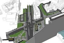 Prostor u hlavního vlakového nádraží mají obsadit lavičky, kavárna nebo infocentrum.