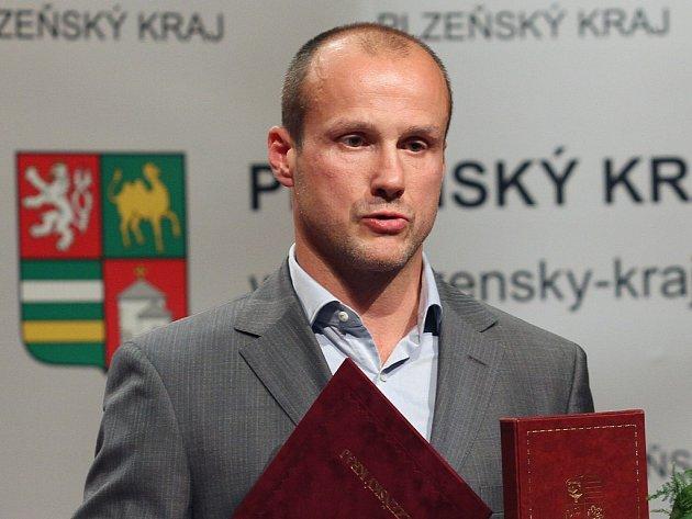 Martin Straka při jmenování do Dvorany slávy Plzeňského kraje