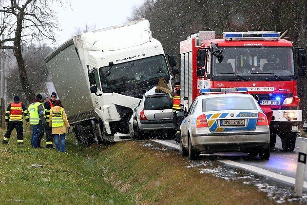 Smrtelná nehoda u osady Sokolka nedaleko Plas.