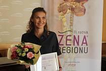 Žena regionu Aneta Sládková Králová po vyhlášení výsledků.
