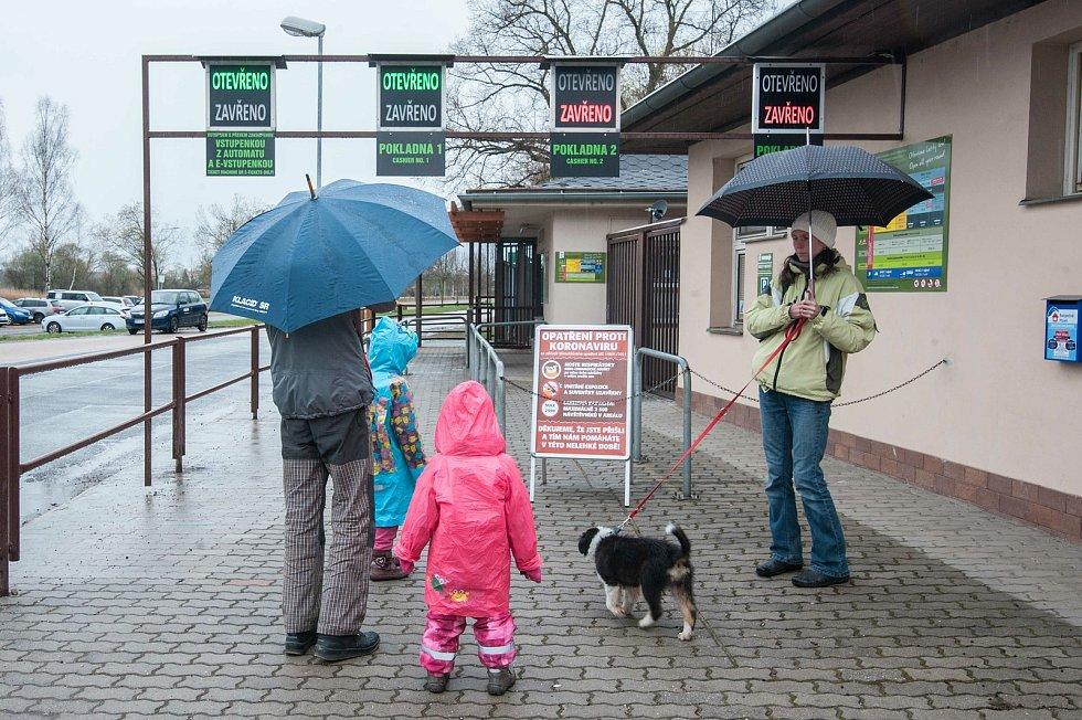 Otevření zoo a obchodů v Plzni.