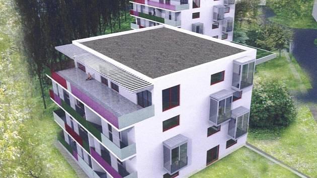 Do tří nových vila domů podél Kotíkovské ulice by se podle investorů mohli první majitelé nastěhovat v druhé polovině příštího roku