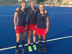 Trojice hráček z Litic Lucie Dolívková, Lucie Duchová a Adéla Kožíšková (zleva) patřila k oporám české reprezentace na ME hráček do 18 let v Rakovníku .