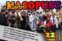 Pozvánka na masopust do Dolní Lukavice.