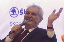 Prezident Miloš Zeman ve Škodě JS
