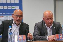 ŠÉFOVÉ VIKTORIE. Majitel klubu Tomáš Paclík (vlevo) a generální manažer Adolf Šádek.