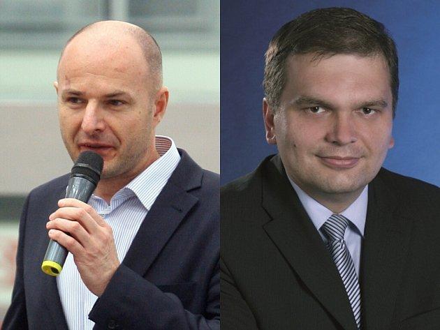 Josef Bernard, bývalý ředitel Škody Transportation (vlevo) a její nový ředitel Tomáš Ignačák