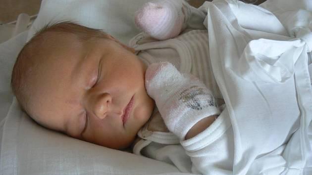Osmiletá Simona už s radostí očekávala narození svého brášky. Samuel (3,57 kg, 52 cm)přišel na svět 6. května ve 12.26 hod. ve Fakultní nemocnici v Plzni a radost z něho mají rodiče Petra a Dušan Vlčkovi z Hrádku u Rokycan