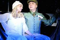 Bronislav Kotiš a hostující Ivana Jirešová v muzikálu Hledá se muž. Zn.: Bohatý! Od soboty je na repertoáru Divadla J. K. Tyla v Plzni.