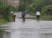 Povodeň v Plzni v Luční ulici