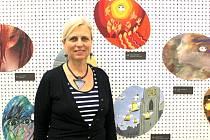 ana Vacková na výstavě v Domě hudby.