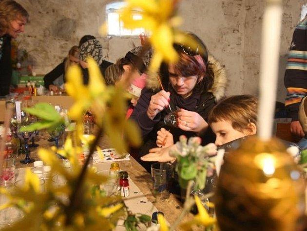 Velikonoční jarmark na statku U Matoušů v Plzni-Bolevci.