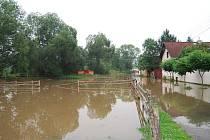 Velká voda v Předenicích na jižním Plzeňsku v pondělí 29. června