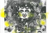 Jedna z bezpočtu podob slunce, jak je vidí známý plzeňský výtvarník Klement Štícha