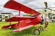Rudý baron v Air Parku Zruč