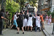 Populární zombie walk má za sebou další ročník. Na sto třicet účastníků prošlo Plzní, přímo během Dne Meliny Mercouri.