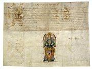 Soubor dvou erbovních privilegií - listina Řehoře XIII.