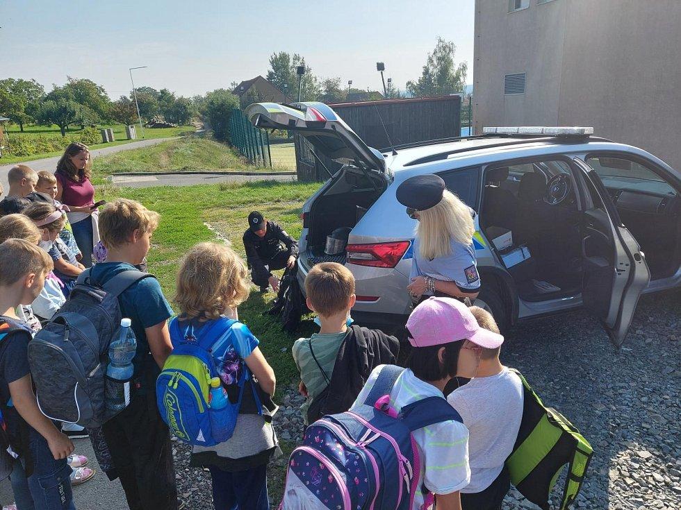Nácvik evakuace školy v Kožlanech.