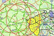 Omezení platí v okruhu 150 kilometrů od ohnisek nemocí. Vyhlášeno bylo pro celé okresy Plzeňského kraje a znázorňuje ho kruh nejvíce vpravo