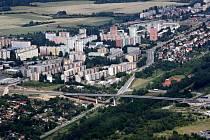 Most přes Slovanské údolí je součástí už hotové etapy západního okruhu z Borských polí do Křimic.