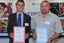 1. místo mezi firmami vyhrála firma Comtes FHT, mezi živnostníky Stanislav Lusk (vpravo)