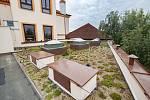 ZŠ v Černicích má zelenou střechu.