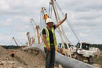 Výstavba plynovodu Gazela.