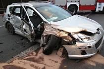 Následky dopravní nehody u Sulkova