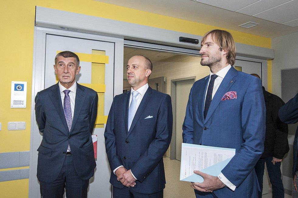 Otevření nového urgentního příjmu ve Fakultní nemocnici Plzeň za přítomnosti premiéra Andreje Babiše