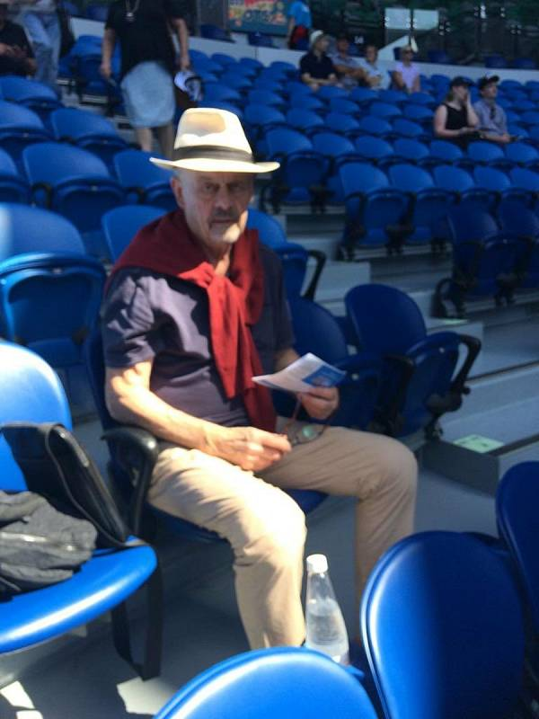 Marek Sýkora na tenisovém turnaji v australském Melbourne.