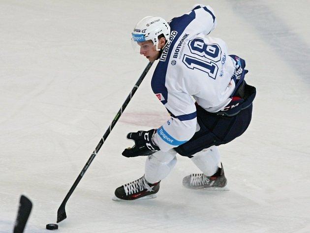 Brněnskou Kometu sestřelil o úterním svátku Dominik Kubalík (na snímku) a třináctým gólem v sezoně si upevnil přední pozici mezi  extraligovými snajpry.