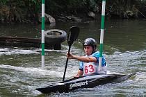 Oddíl Lokomotivy Plzeň reprezentoval v soutěži kajakářů devatenáctiletý David Korbelář.