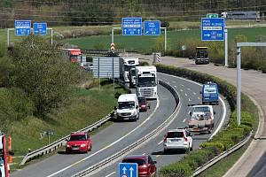 dálnice D5 obchvat Plzně rekonstrukce povrch uzavřený exit Plzeň - Černice