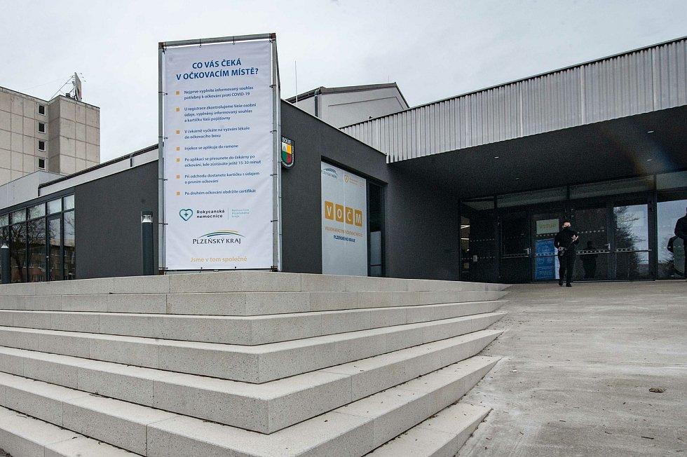 Očkovací centrum v Plzni. Ilustrační foto.