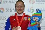 Anna Dědová na mistrovství světa juniorek 2018 v Koreji získala bronzovou medaili.
