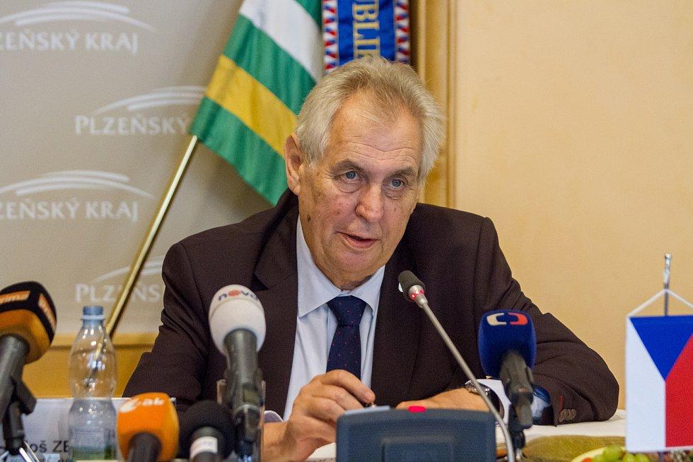 Prezident Miloš Zeman v Plzni