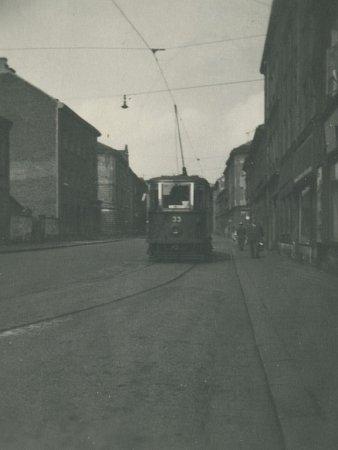 Konečná tramvaje číslo 2ve Sladkovského ulici