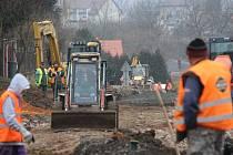 Rekonstrukce silnice ve Šťáhlavech