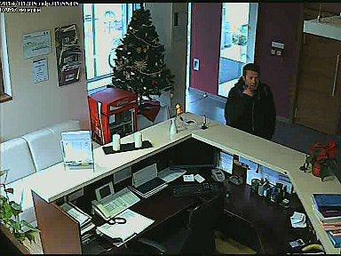 Záznam bezpečnostní kamery Hotelu Sport Zruč