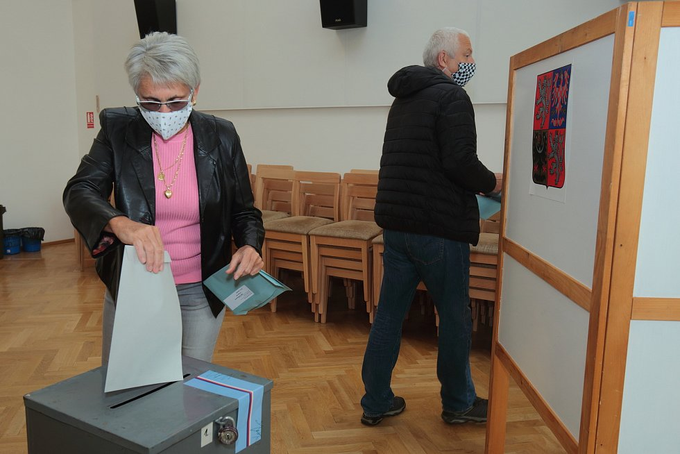 Krajské volby v Kaznějově.