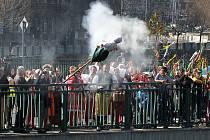 Tradiční vynášení a pálení Morany v Plzni