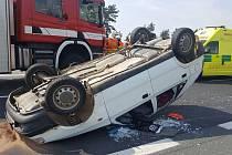 Vážná dopravní nehoda u Chotíkova.