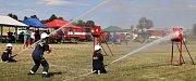 Kulaté jubileum oslavili dobrovolní hasiči v Brodeslavech soutěží v požárním útoku.