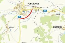 Přeložka silnice II/196 v Poběžovicích na Domažlicku bude jakýmsi jihovýchodním obchvatem obce.