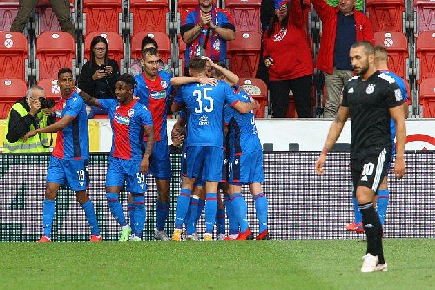 Play-off Evropské konferenční ligy: Viktoria Plzeň vs. CSKA Sofia 2:0.