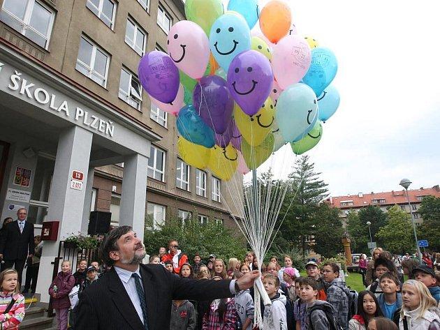 První školní den na 21. ZŠ v Plzni