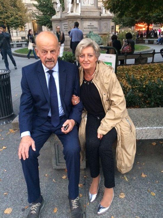 Marek Sýkora s manželkou.