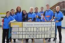 Curlingový klub CC Meteorite Třemošná se od podzimu bude prát o mistrovské body, zkušenosti už sbíral na mezinárodním turnaji v Německu, odkud je snímek pořízen.